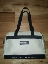 VTG 90s Mens Polo Sport Shave Toiletry Travel Zipper Bag Shoulder Ralph Lauren