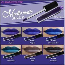 6 PCs set Kleancolor Madly Matte Lipgloss lip gloss Black purple Bold Vivid 1816