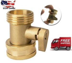 """Garden Hose Shut Off Valve Water Pipe Faucet Connector Handy All Brass 3/4"""""""