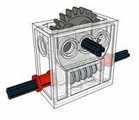 Lego Gear REDUCER Block (technic,mindstorms,nxt,gearbox,worm,axle,compact,robot)