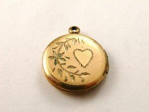 Vintage Vittoriano Color Oro Cuore Medaglione Pendente