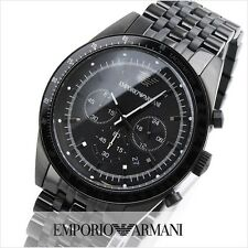 EMPORIO ARMANI BLACK CHRONOGRAPH STAINLESS STEEL MEN WATCH AR5989