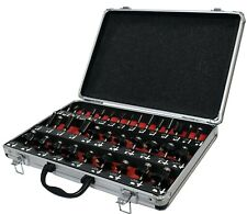 """1/4"""" Shank TCT Router Cutter Bit Set with Aluminium Case Trade Quality 35 Pieces"""