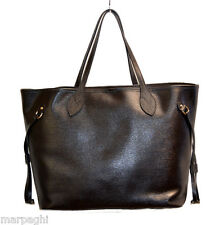 Borsa borse vera pelle made in italy genuine leather bag marrone bags brown 2017