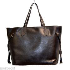 Borsa borse vera pelle made in italy genuine leather bag marrone bags brown 2017