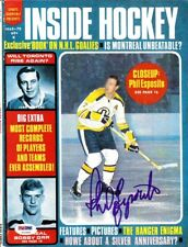 Phil Esposito Autographed Inside Hockey Magazine Cover Bruins PSA/DNA U93808