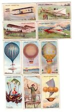 Ten 1910 AVIATION Cards WRIGHT BROTHERS Airplanes Balloons +++