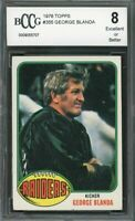 1976 topps #355 GEORGE BLANDA oakland raiders (CENTERED) BGS BCCG 8