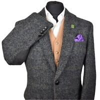 Harris Tweed BARUTTI Country Textured Tailored Hacking Jacket 40R - SUPER RARE