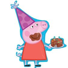 "PEPPA PIG BALLOON 22"" PEPPA PIG PARTY SUPPLIES BIRTHDAY CAKE ANAGRAM BALLOON"