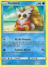 POKEMON SUN & MOON GUARDIANS RISING CARD: DELIBIRD - 26/145