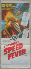FORMULA 1 SPEED FEVER MOVIE POSTER  Australian Daybill 1978 RACING Film