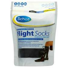 Scholl Flight Socks Black 1 Pair Shoe Sizes 9 1/2 - 12