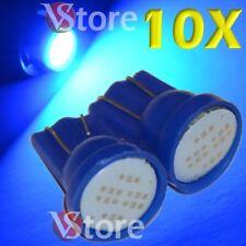 10 Lampade Led T10 COB 6 Chip Luci Blu Xenon Posizione Targa Interni Auto