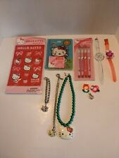 Hello Kitty Lot of Vintage New & Used Items necklaces watches pencils stickers