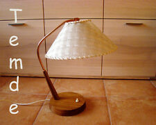 Temde Teak mesa lámpara mid CENTURY Modernist Table desk lamp swiss 1960s