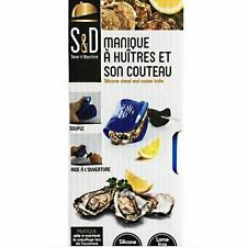Couteau huître lame inox  + Manique Silicone Aide à l'ouverture marque S&D