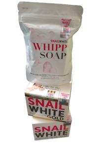 Snail White Gold Cream Whipp Soap Bar Recovery Renew Repairing Whitening 50g