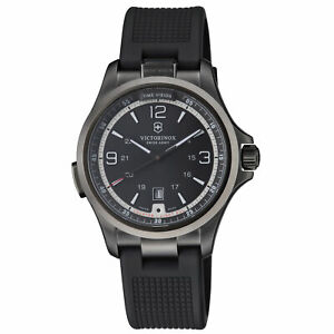Victorinox Night Vision Quartz Movement Black Dial Men's Watch 241596