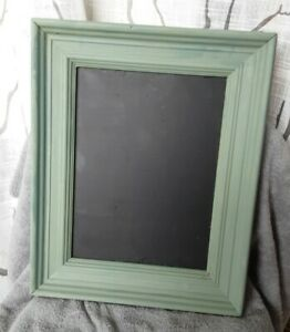Vintage Wood hanging black Chalkboard green frame 22x20 memo, menu board