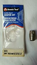Amana Tool Carbide Tipped Router Bit # 55251 Down-Shear Mortise Cutter 1/2""