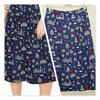 [ BODEN ] Womens Lola London Printed A-Line Skirt  | Size UK/AU 8 or US 4