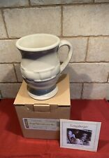 Longaberger Pottery Ivory Latte Mug 14 Oz Woven Traditions 3161990 Nib Rare