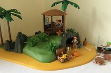 Vintage Playmobil Pirates Island #3799 Box Instructions 99% Complete
