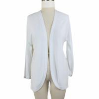 NWT ~ Premise Cardigan Women Size Large White Round Hem Long Sleeve Open Jacket
