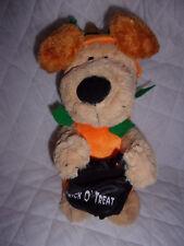 "Avon Trick O' Treat Musical Pumpkin Dog 13"" Plush Soft Toy Stuffed Animal"
