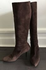Helmut Lang Chocolate Brown Suede Boots 36 6
