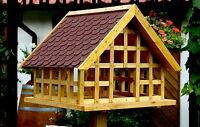 Exklusives XXL Fachwerk Vogelhaus mit rotem Schindeldach in Eiche Hell 027