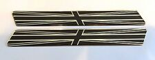LARGE TWIN CHROME & BLACK UNION JACK FLAGS - DOMED GEL FINISH Stickers/Decals