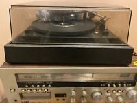 XAM VINTAGE Solid State R-818 With SPEAKERS And BUILT IN 8 TRACK PLUS TURNTABLE