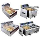 Yescom Commercial Electric Deep Fryer French Fry Bar Restaurant Tank w/ Basket photo