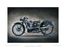 Motorcycle Limited Edition Print - Brough Superior SS100 - Poster by Steve Dunn