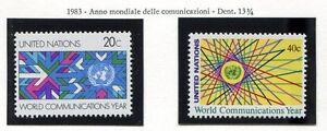 19169) UNITED NATIONS (New York) 1983 MNH** Communications Year
