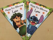 Handmade Personalised Lilo And Stitch  bunting / party decoration / birthday