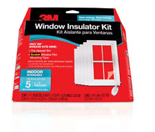 3M® WINDOW INSULATOR KIT Covers 5 INTERIOR WINDOWS CLEAR FILM 2141W6