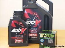 MOTUL OLIO 300v 10w40/Racing-FILTRO OLIO KAWASAKI zx-14r NINJA zx1400 BJ 06 - 15