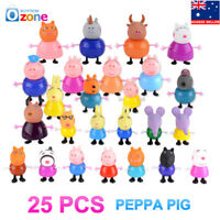 25Pcs Peppa Pig Family&Friends Emily Rebecca Suzy Action Figures Toy Cake Topper
