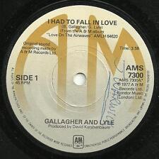GALLAGHER & LYLE - I HAD TO FALL IN LOVE/HEAD TALK 1977 - ORIGINAL 70s POP VOCAL