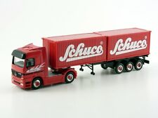 "Schuco 1:87 Mercedes-Benz Actros Containersattelzug ""Schuco"" # 22030"