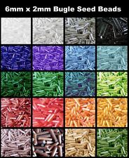 BUY 3 GET 3 FREE 25g - 6mm x 2mm / 2 x 2mm Bugle Seed Beads Glass Seed Beads