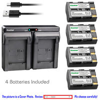 Kastar Battery Dual USB Charger for Sigma BP-21 Sigma SD1 SD1 Merrill SD14 SD15