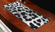 Black & White Leopard Print Bar Runner Ideal For Any Occasion Salon Bar Party