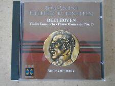 Toscanini Heifetz Rubinstein - Beethoven Violin Concerto CD Historic Recs. 1940s