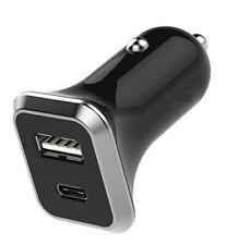 Rápido Rápido Cargador De Coche USB-C iPhone Samsung Galaxy S9 S10 Huawei, Mac Libro Plus