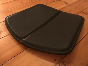 Knoll Studio Seat Pad Only For Bertoia Wire Side Chair Black Pelle Leather