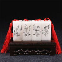 Chinese Traditional Carving Seal Sculpture Name Stamp Stone Jade Seal Art Craft